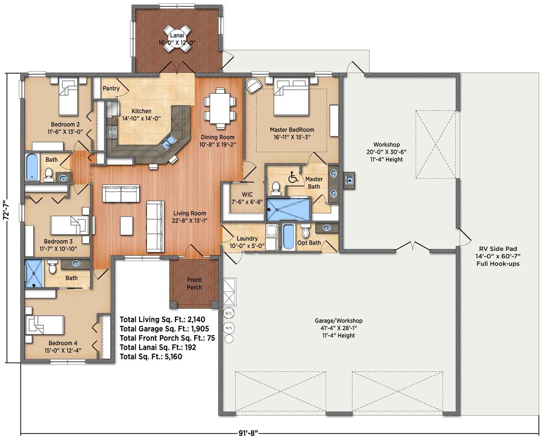 Tuscan III Floorplan