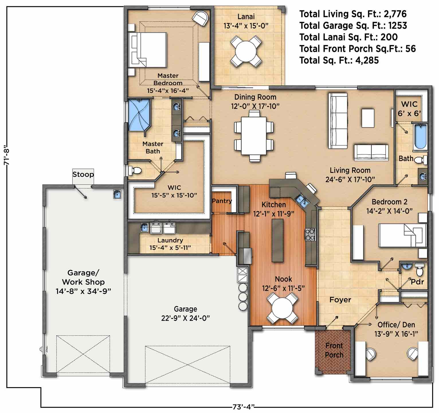 Sunset Harbor I Floorplan