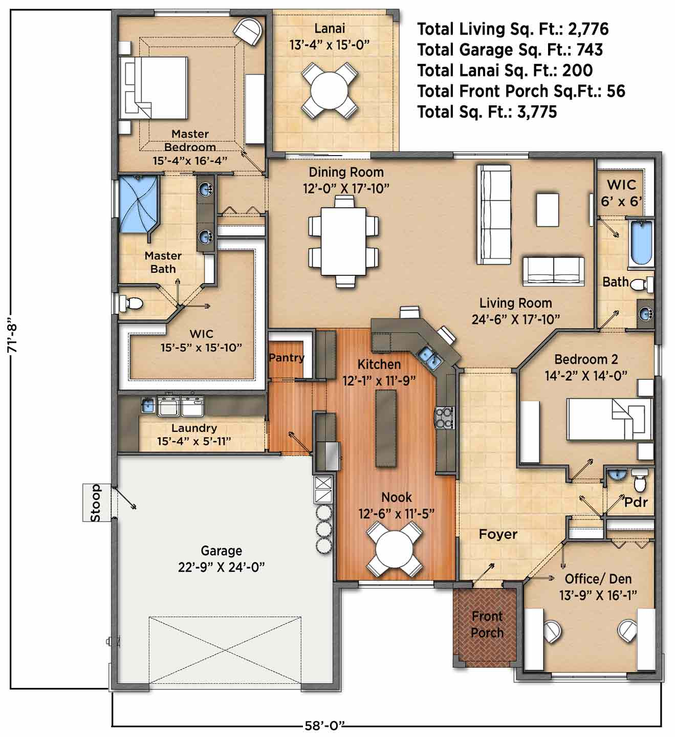 Sunset Harbor A Floorplan