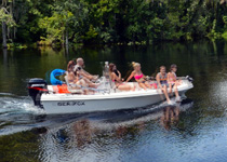 Boating on Ocklawaha River
