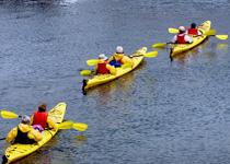 Kayaking on Lake Weir